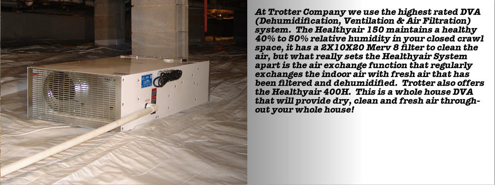 crawlspace waterproofing trotter company